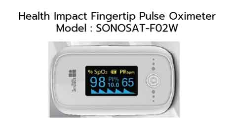 Health Impact Fingertip Pulse Oximeter